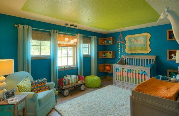 Kinderzimmer Bunt Gestalten | 15 Coole Bucher Wandregale In Der Zimmerecke Platziert