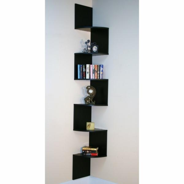 15 coole b cher wandregale in der zimmerecke platziert. Black Bedroom Furniture Sets. Home Design Ideas