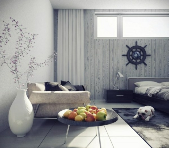 coole moderne interior designs apfel dekoration vase
