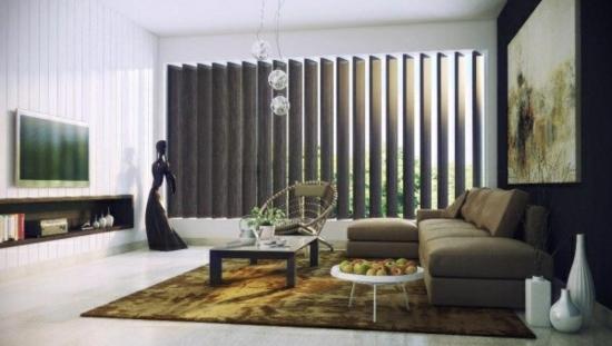 coole moderne interior designs dunkle farben rolläden regale