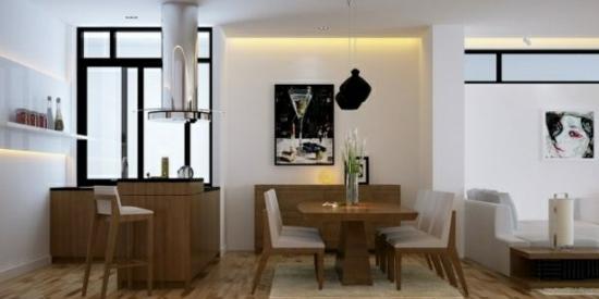 coole moderne interior designs gemütlich holz essbereich