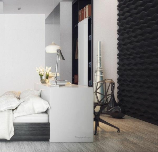 coole moderne interior designs kommode weiß schlafzimmer