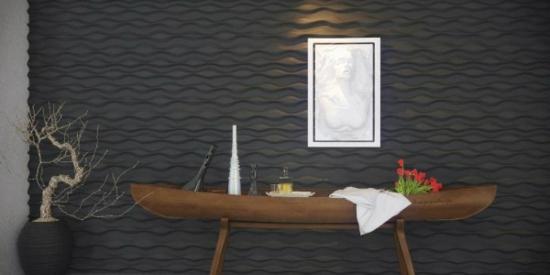 coole moderne interior designs kunstvoll tisch blickpunkt