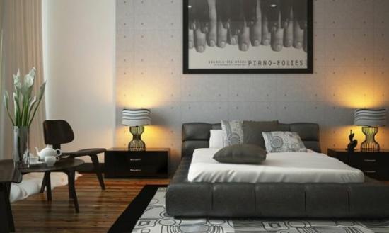 coole moderne interior designs polsterung bett grau