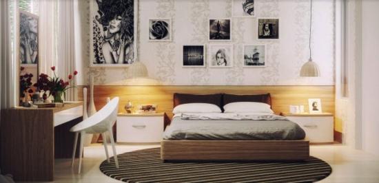 coole moderne interior designs schlafzmimer schreibtisch