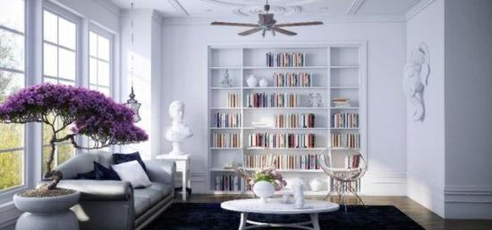 coole moderne interior designs weiß einrichtung wandregale