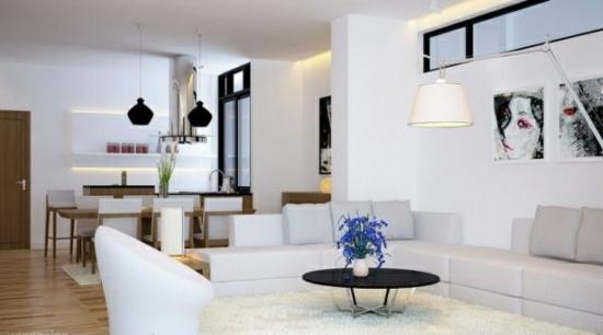 coole moderne interior designs weiß einrichtung wohnzmimer essbereich