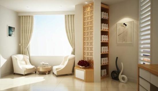 coole moderne interior designs weiße sessel