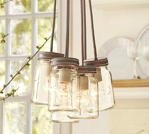 coole moderne weckglas leuchten hängend glühbirne
