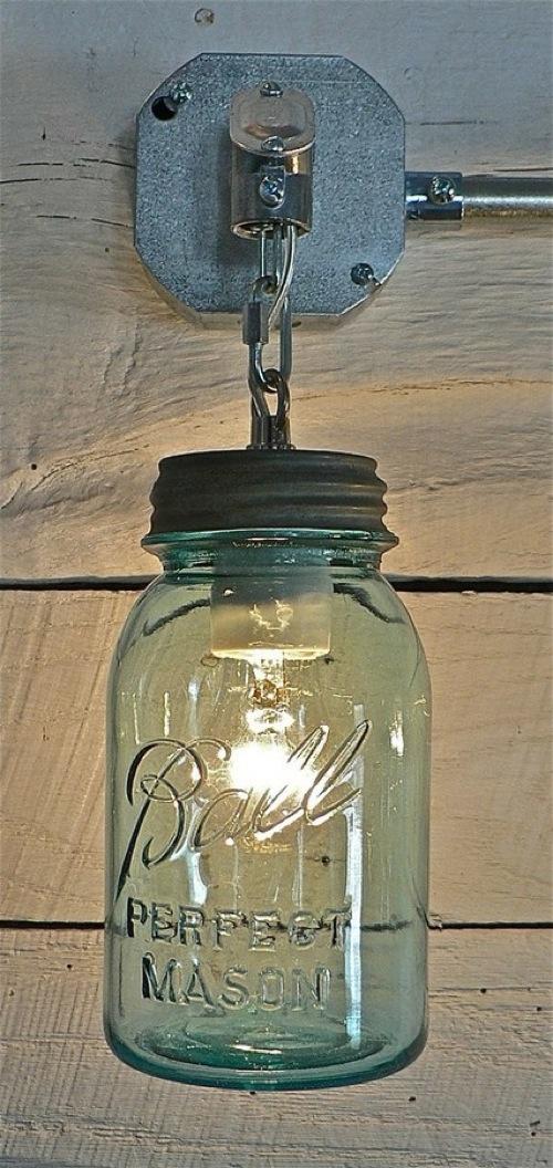 schöne moderne weckglas leuchten hängend idee