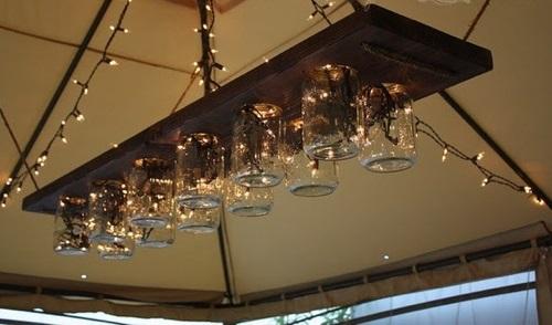 coole moderne einweckglas leuchten holzplatte hängend