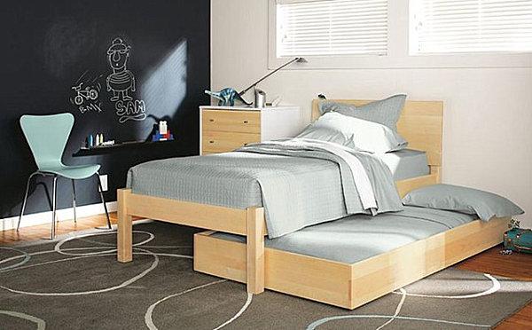 coole praktische schlafsofas kleine wohnungen ausziehbett holz