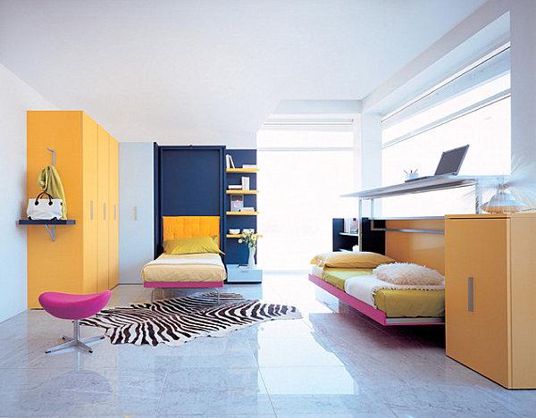 coole praktische schlafsofas kleine wohnungen bunt farben