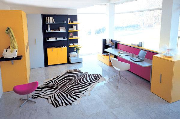 coole praktische schlafsofas kleine wohnungen zebra muster