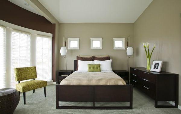 Schlafzimmer einrichten brauntöne  43 Coole Schlafzimmer Farbpalette Tipps - bunter Blickpunkt