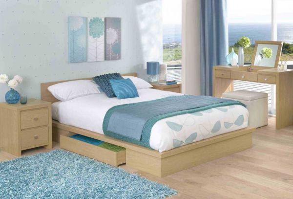 coole schlafzimmer farbpalette akzente deko elegant
