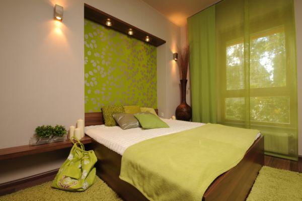 coole schlafzimmer farbpalette akzente grün design