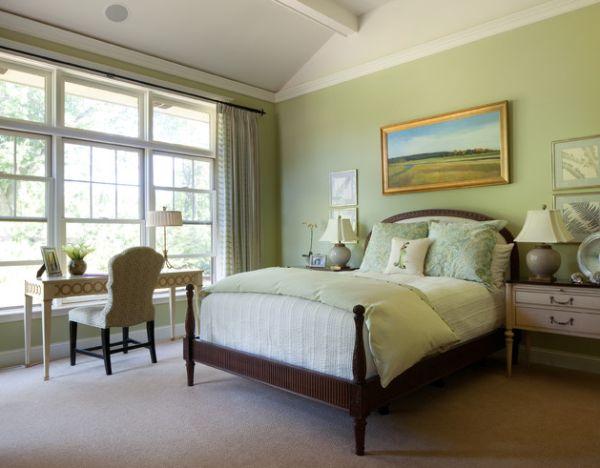 coole schlafzimmer farbpalette akzente braun bettrahmen