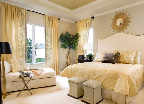 43 coole schlafzimmer farbpalette tipps - bunter blickpunkt - Schlafzimmer Creme Weis