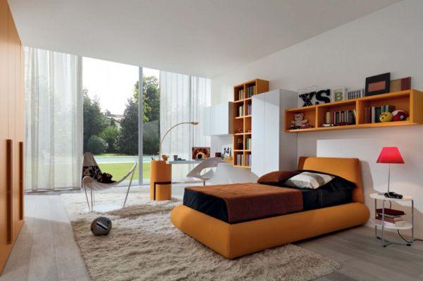 interessante schlafzimmer farbpalette kinderzimmer orange