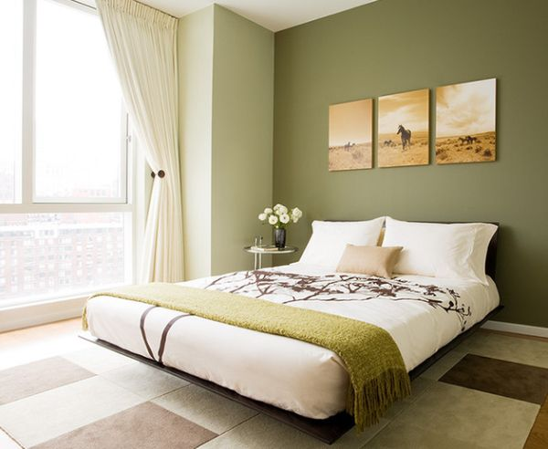 schöne schlafzimmer farbpalette modern floral muster
