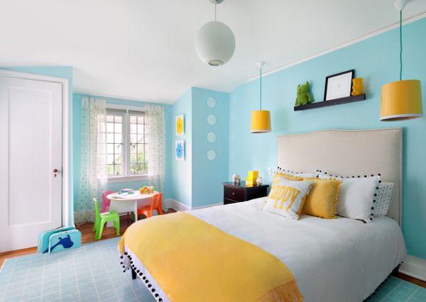 Coole Schlafzimmer Farbpalette Schick Kombination Blau Gelb 43 Ideen Treffen Sie Die Richtige Wahl