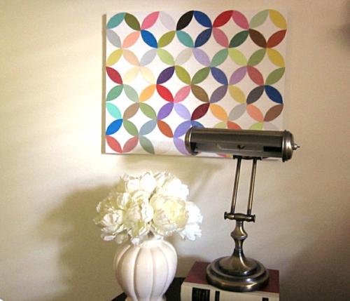 coole wand dekoration ideen bunt stoff farbenfroh