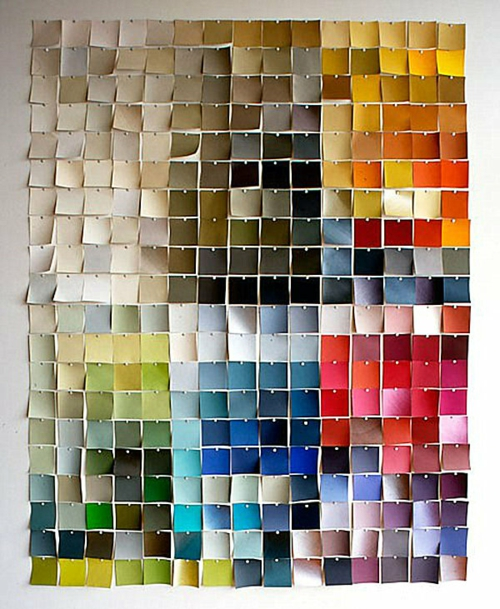 Coole Wand Dekoration Ideen Bunt Stoff Quadrat