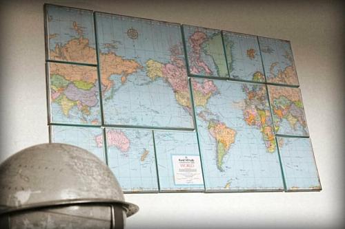 coole wand dekoration ideen erdkugel globus