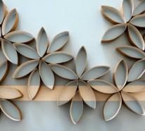 Coole Wand Dekoration Ideen – verwenden Sie vorhandene Materialien und Stoffe