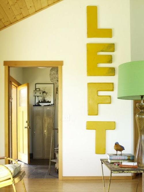 das haus mit worten dekorieren girlande links gelb buchstaben