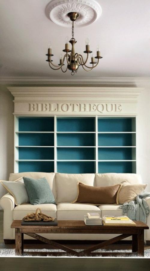 das haus mit worten dekorieren bibliothek sofa