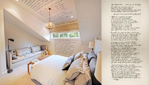 deko ideen mit worten spruch schlafzimmer