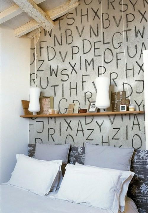 Deko schlafzimmer wand  12 Deko Ideen mit Worten - Drücken Sie Ihre Emotionen aus!