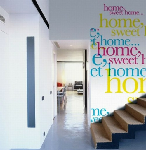 das haus mit worten dekorieren wanddekoration treppenhaus