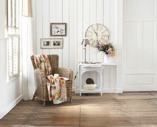 Elegant Wandgestaltung Landhausstil Wohnzimmer | Badezimmer U0026  Wohnzimmer, Wohnzimmer Design