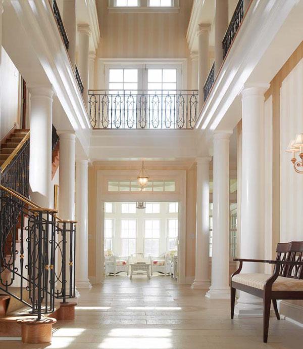 designer deko trends standbild neoklassisch säule weiß