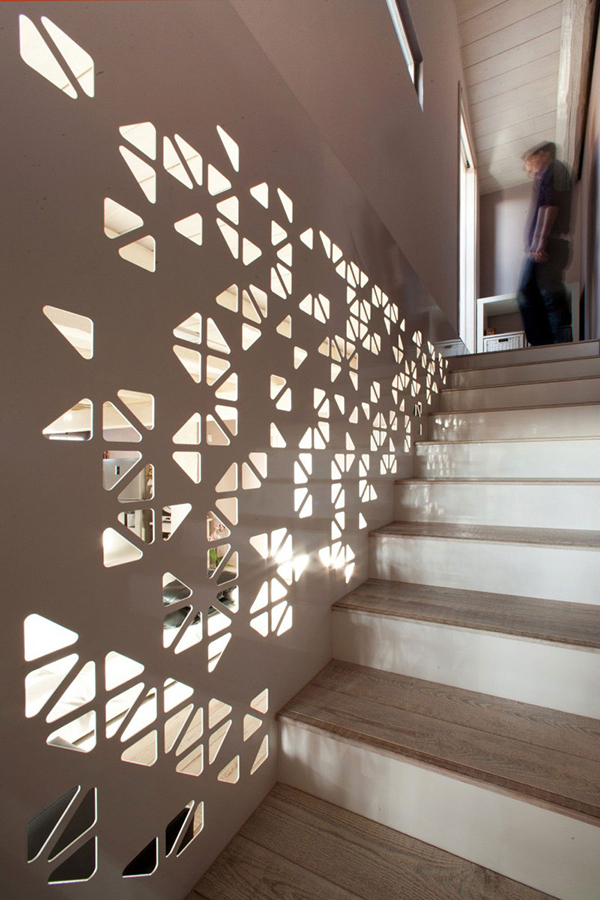 designer deko trends treppenhaus geländer fragmentier  erhellt