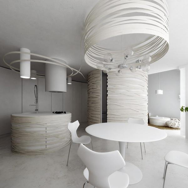 designer deko trends weiße küchen ausstattung fragmentiert und rund