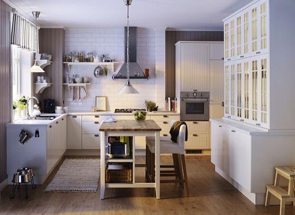 designer küchen schränke idee knopf griff rustikales interior