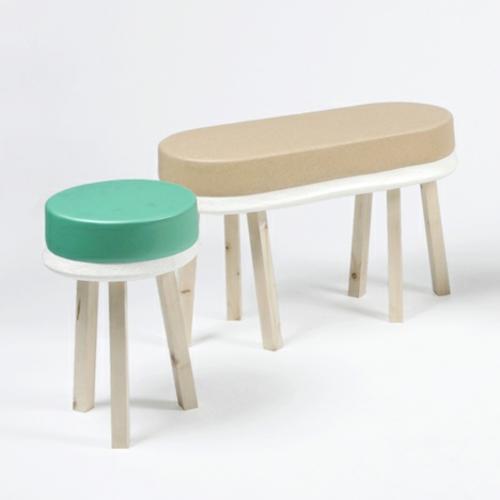 designer möbel kollektion geometrisch farben hocker sitzplatz
