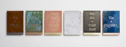 designer möbel kollektion geometrisch farben hocker zink cupfer