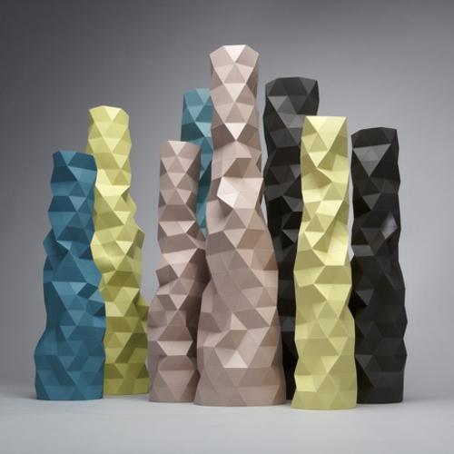 designer möbel kollektion geometrisch farben idee eckig