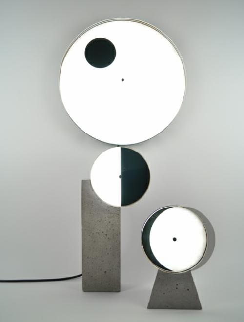 designer möbel kollektion geometrisch farben kreise schein