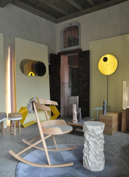 designer möbel kollektion geometrisch farben lebensraum