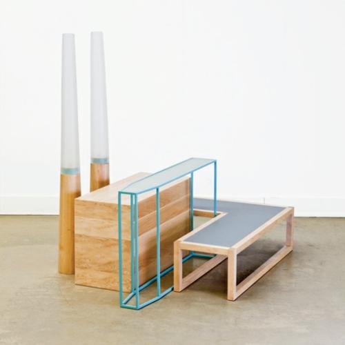 designer möbel kollektion geometrisch farben tisch set