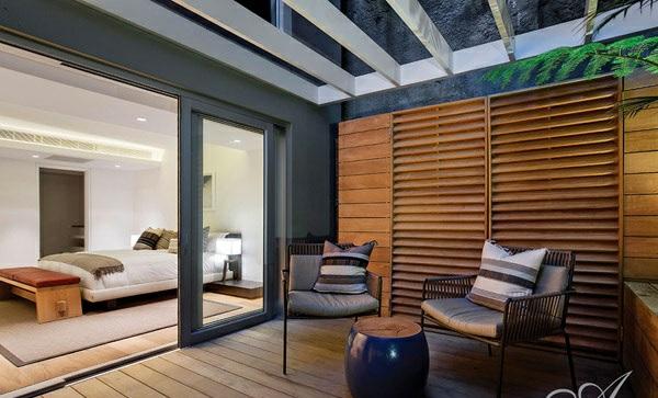 designer neu gestaltetes apartment atlantisch ozean außenbereich