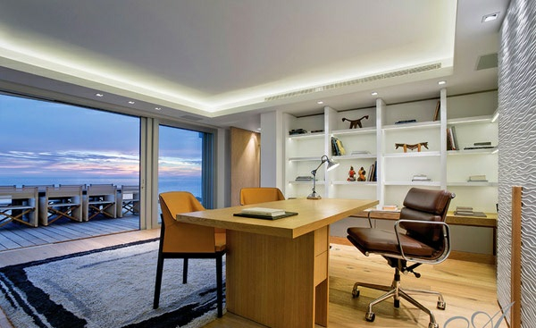 designer neu gestaltetes apartment atlantisch ozean büro
