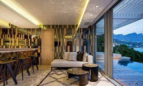designer neu gestaltetes apartment atlantisch ozean bar