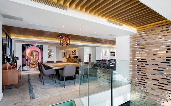 designer neu gestaltetes apartment atlantisch ozean esszimmer